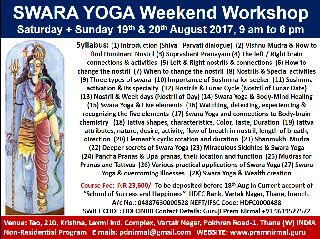 Swara Yoga Aug
